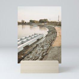 Tisa/Tisza river near Becej, Serbia Mini Art Print