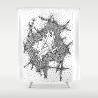 fractal Shower Curtains featuring Fractal by Abstract Al