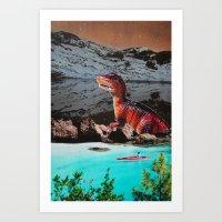 dinosaur Art Prints featuring Dinosaur by John Turck