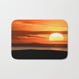 Isle of Anglesey View of Ireland Mountains Sunset Bath Mat