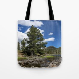 A Rocky Mountian Morning Tote Bag