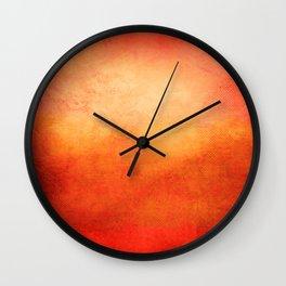 Crimson Dawn Wall Clock