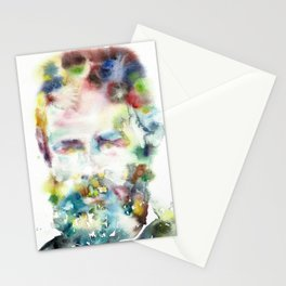 HERMAN MELVILLE - watercolor portrait.2 Stationery Cards