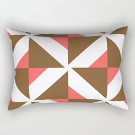 Chocolate Brown + Coral: Pattern No. 17 Rectangular Pillow