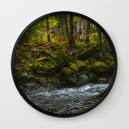 Mountain River Wall Clock
