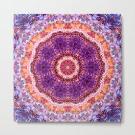 Cosmic Convergence Mandala Metal Print