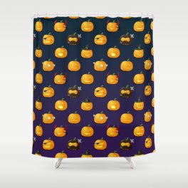 Halloween Jack-o'-lantern Shower Curtain
