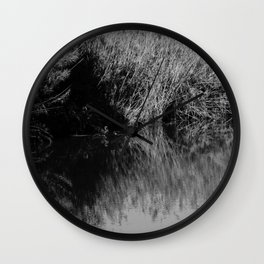 Black and white country pound Wall Clock