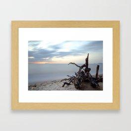 Driftwood Sunset Framed Art Print