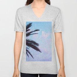 Palm Leaves Pastel Clouds #1 #decor #art #society6 Unisex V-Neck