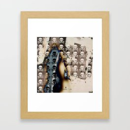 Overhead Skull and XBones: Shadow Burn Framed Art Print