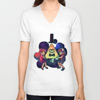 gravity falls V-neck T-shirts featuring Gravity Falls by Miki Draw