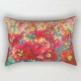 Impressionist Floral Abstract by OLena Art Rectangular Pillow