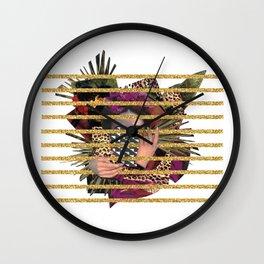 Hail Frida_ white Wall Clock