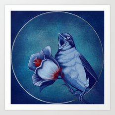 The Nightingale And The Rose Art Print