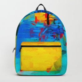 Modern Abstract Two Backpack
