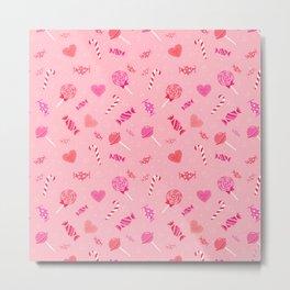 Sweet Candy Pink pattern Metal Print