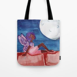 Fairy in the Moonlight Tote Bag