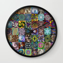 Fractals Montage Wall Clock