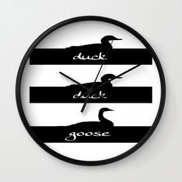Duck Duck Goose Wall Clock
