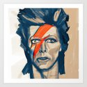 "Portrat of David Bowie as ""Ziggy Stardust"" by w_flemming"