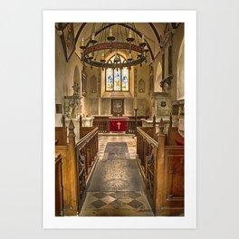 Knowlton Church Chancel Art Print