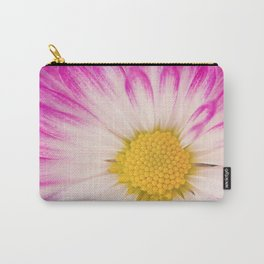Pink and White Mum Carry-All Pouch