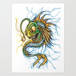 Angler Illustration Art Print