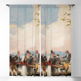 "Francisco Goya ""Blind Man's Buff"" Blackout Curtain"