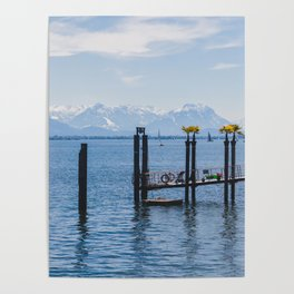 Bodensee and Alp Mountains Poster