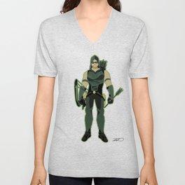 Green Arrow Unisex V-Neck