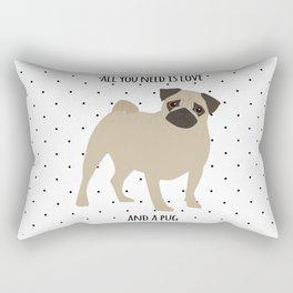Love And Pugs Rectangular Pillow