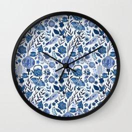 Chinoiserie Tea in the Garden Wall Clock