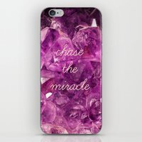 minerals iPhone & iPod Skins featuring chase the miracle on minerals by mb13