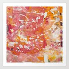 Florida Sunset (Bright Orange & Hot Pink) [Crystal Hoffman] Art Print