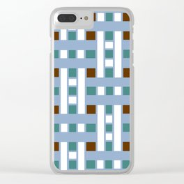 Cross Stitch Quilt Latter Design Chutes Weave Clear iPhone Case