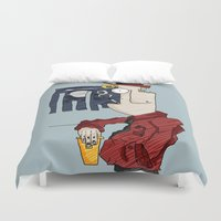 drink Duvet Covers featuring DRINK by Ivano Nazeri
