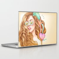 artpop Laptop & iPad Skins featuring Free my mind, ARTPOP by Helen Green