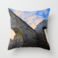 Corcomroe Abbey Arch Throw Pillow