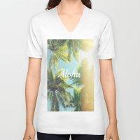 aloha V-neck T-shirts featuring AloHa by ''CVogiatzi.