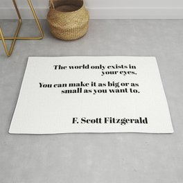 Fitzgerald quote Rug