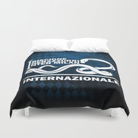 milan Duvet Covers featuring Theme Inter Milan by Maxvtis