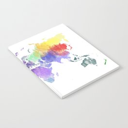 Colorful world map Notebook