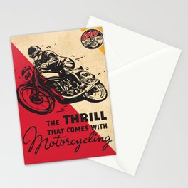 Vintage poster - Motorcycling Stationery Cards