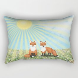 2 foxes Rectangular Pillow
