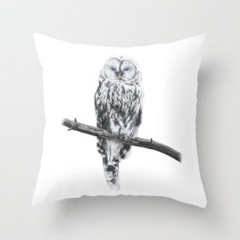 Owl of freedom Throw Pillow