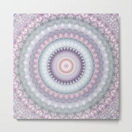 Heirloom Mandala in Pastel Colors Metal Print