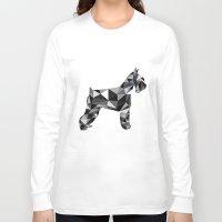 schnauzer Long Sleeve T-shirts featuring poli schnauzer by monicamarcov