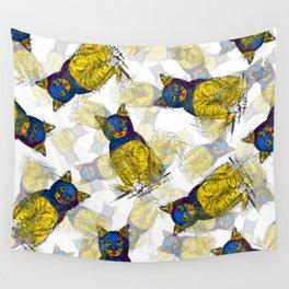 BAT CAT Pattern 1 Wall Tapestry
