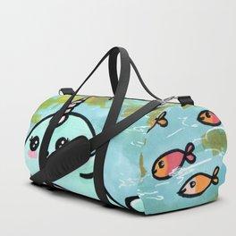 Cute narwhal Duffle Bag